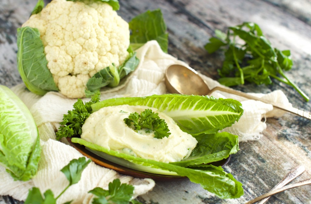 Mashed Cauliflower with Smoked Gouda