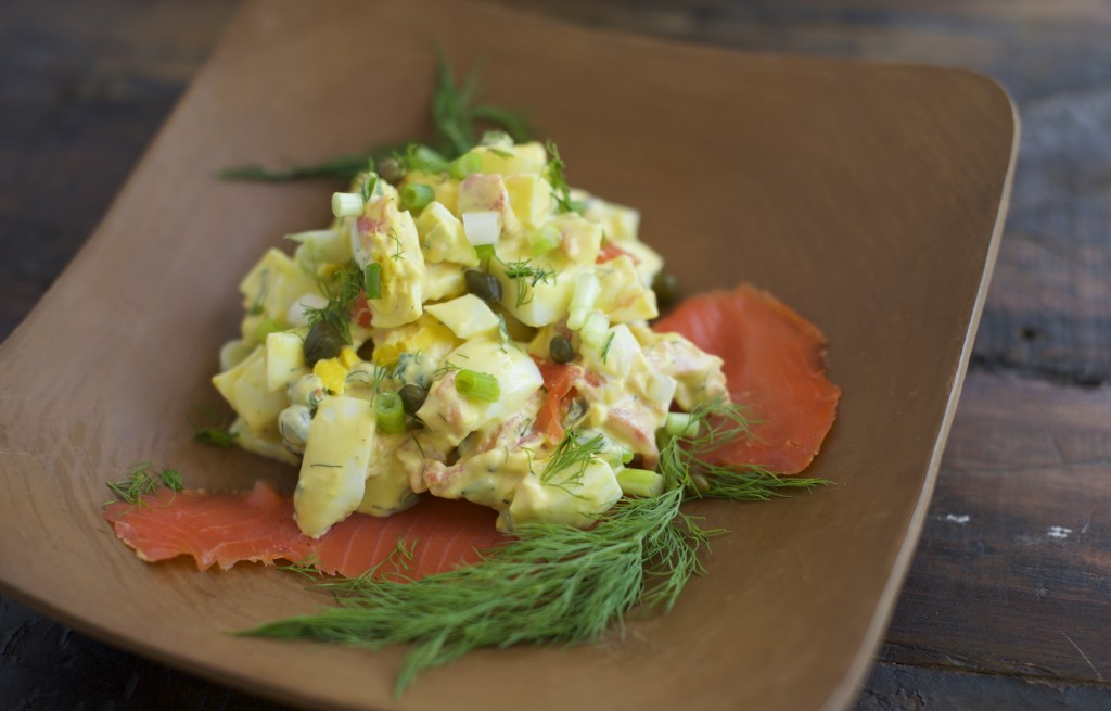 Easy Smoked Salmon Egg Salad