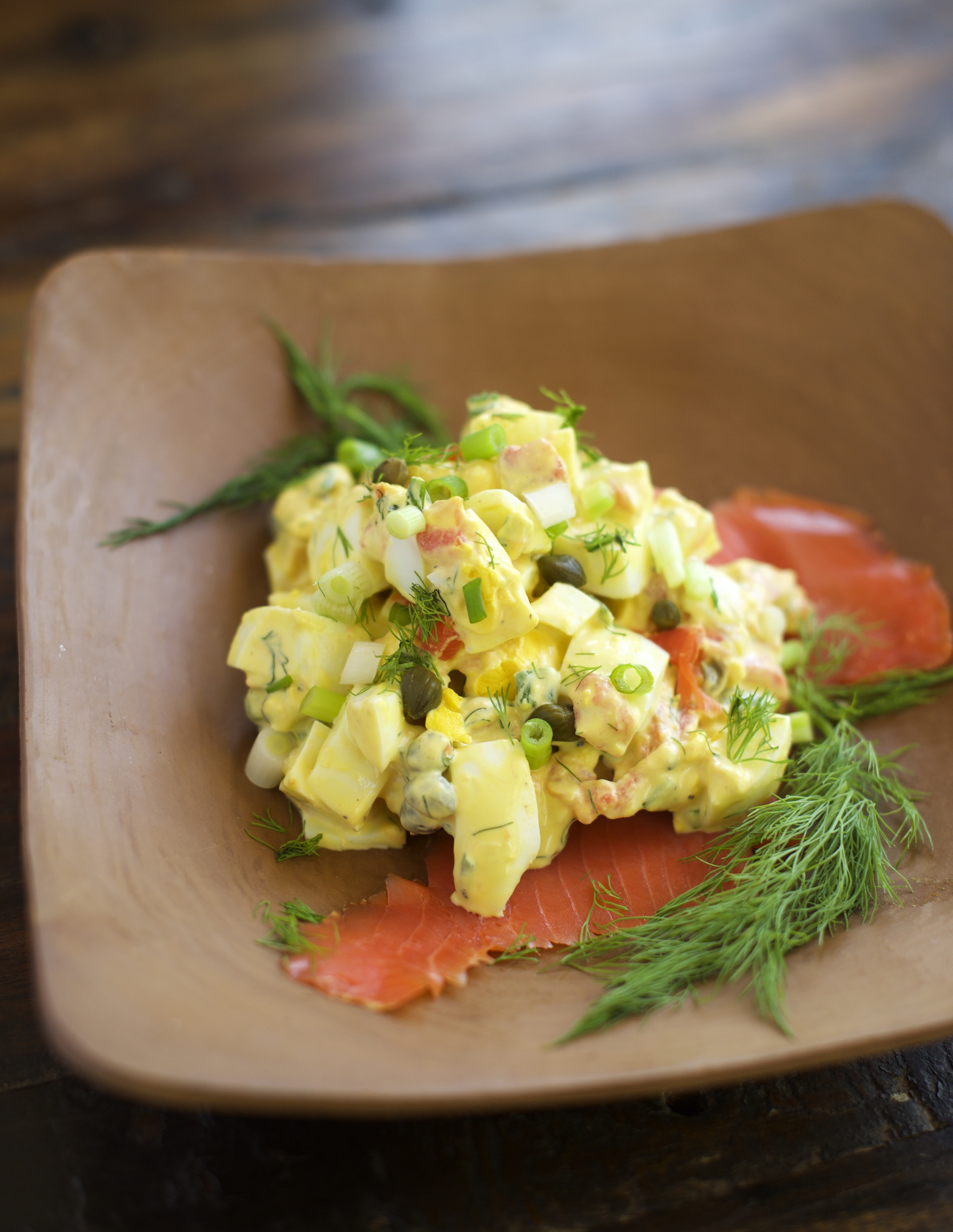 Easy Smoked Salmon Egg Salad - Simply So Healthy