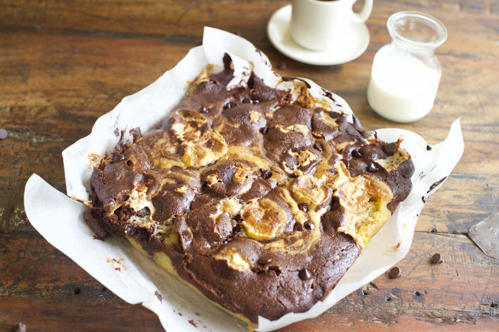 Sugar-Free Chocolate Swirl Brownies