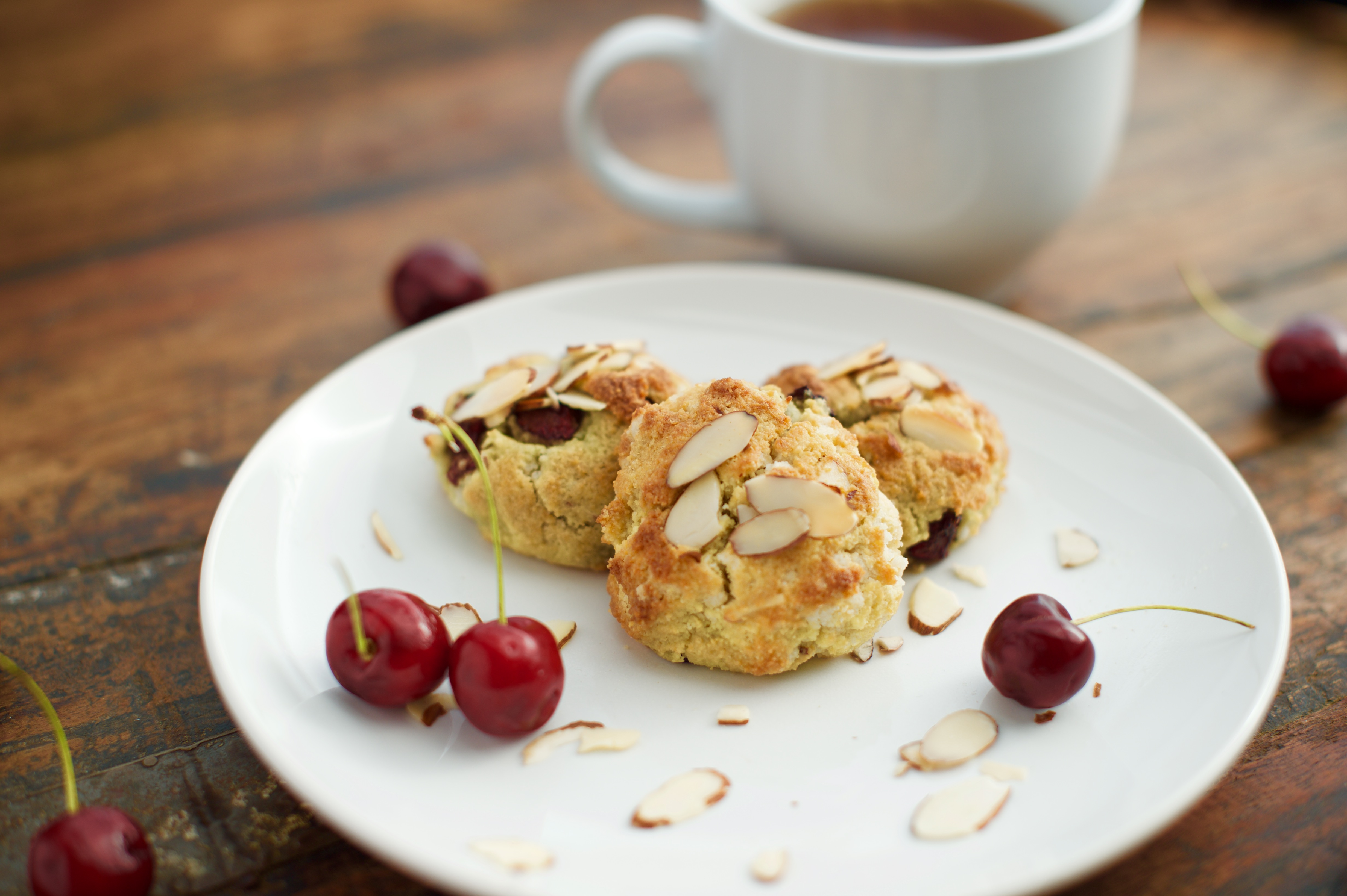 Low-Carb Cherry Almond Scones