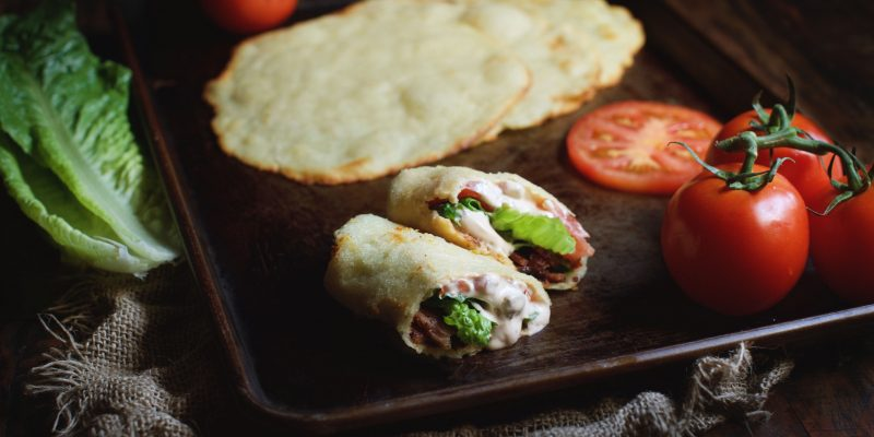 Low-Carb BLT Wraps with Chipotle Mayonnaise