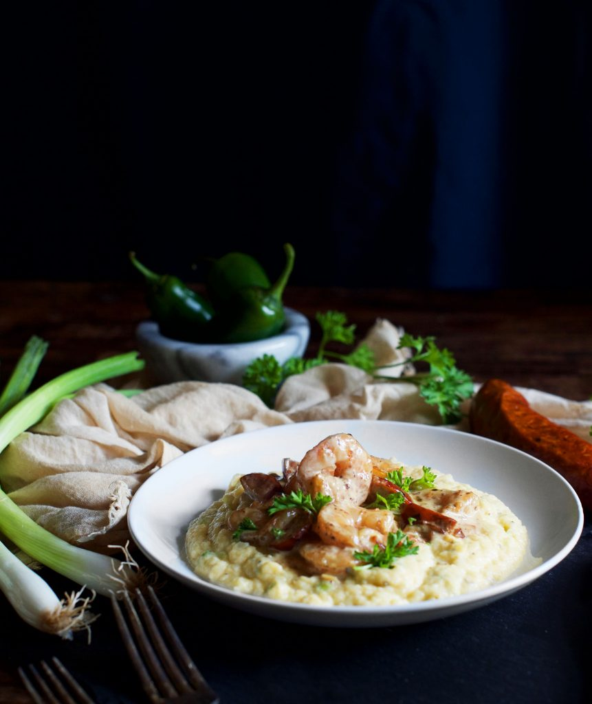 "Low Carb Shrimp and ""Grits"""