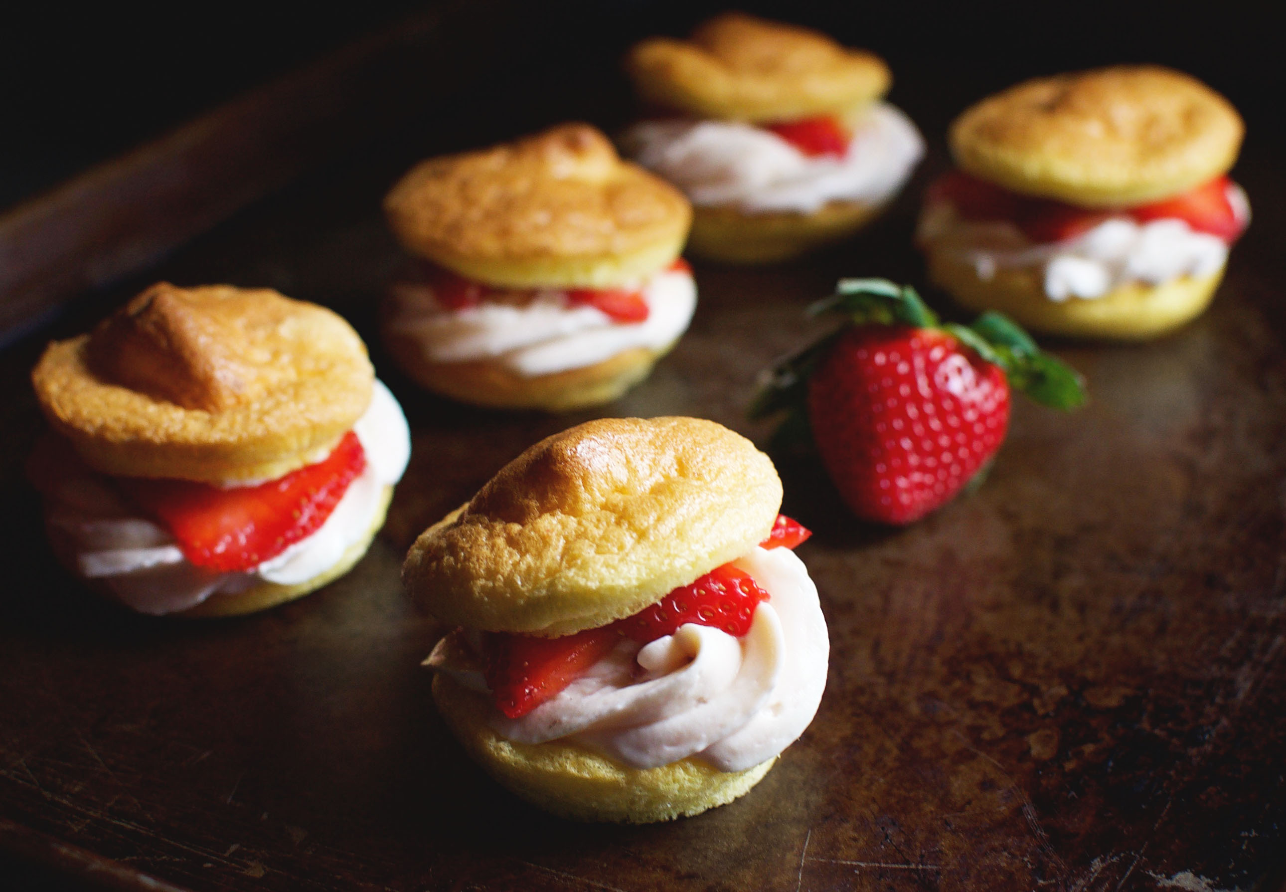Low-Carb Strawberry Cream Puffs - Simply So Healthy