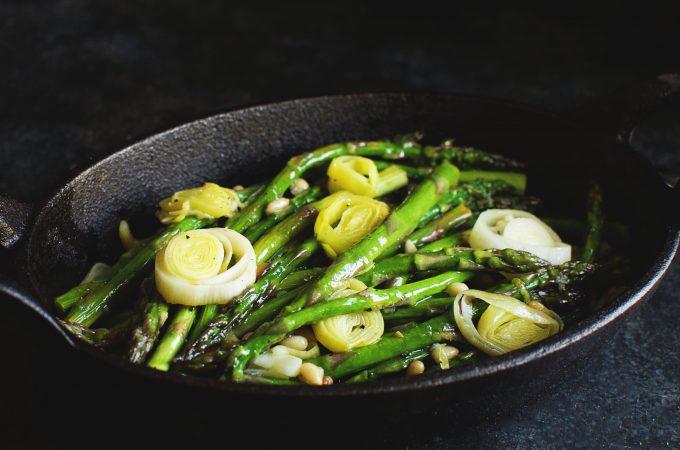 Easy Roasted Leek and Asparagus Salad