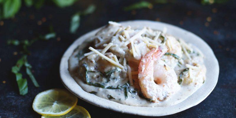 Low-Carb Basil Parmesan Shrimp