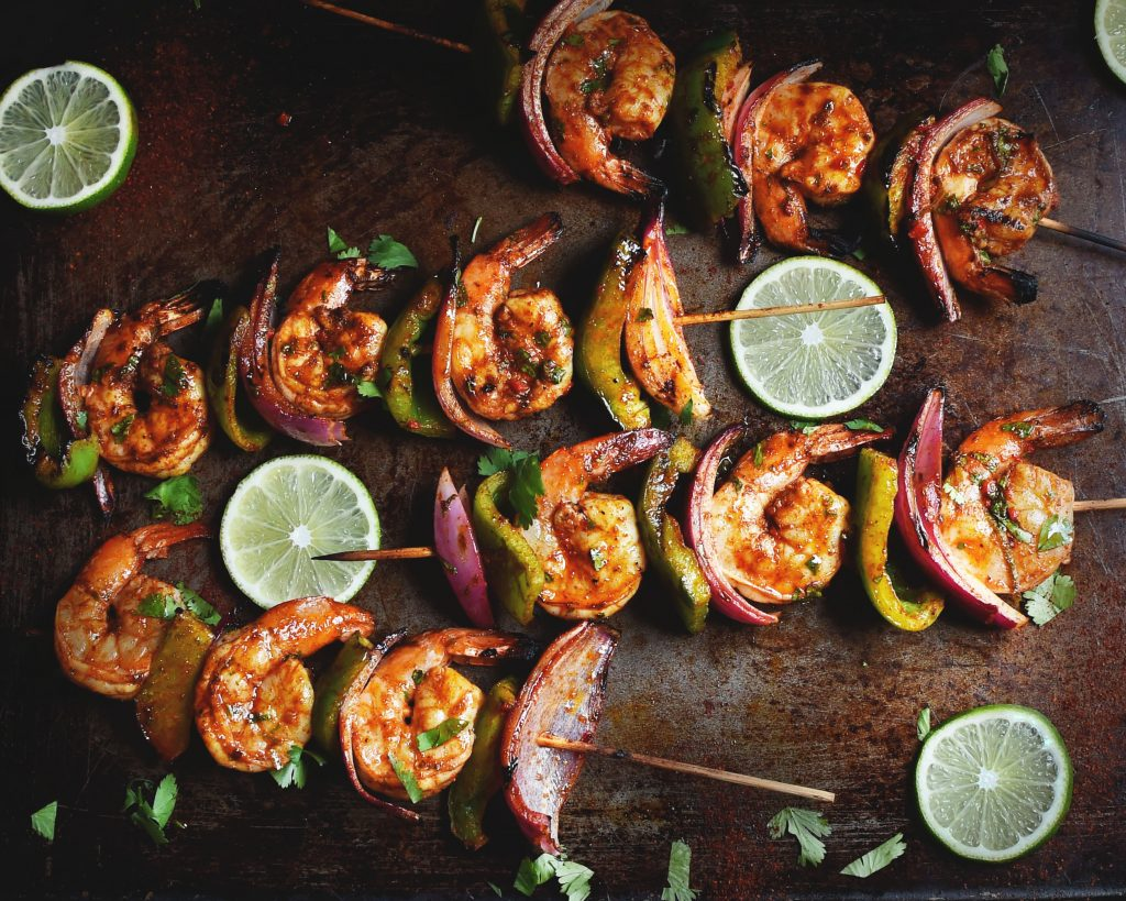 Grilled Chili Lime Shrimp Kabobs
