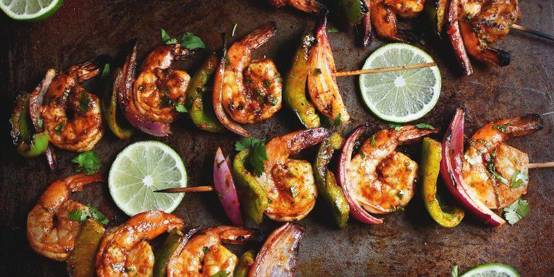 Grilled Chili Lime Shrimp Kabobs