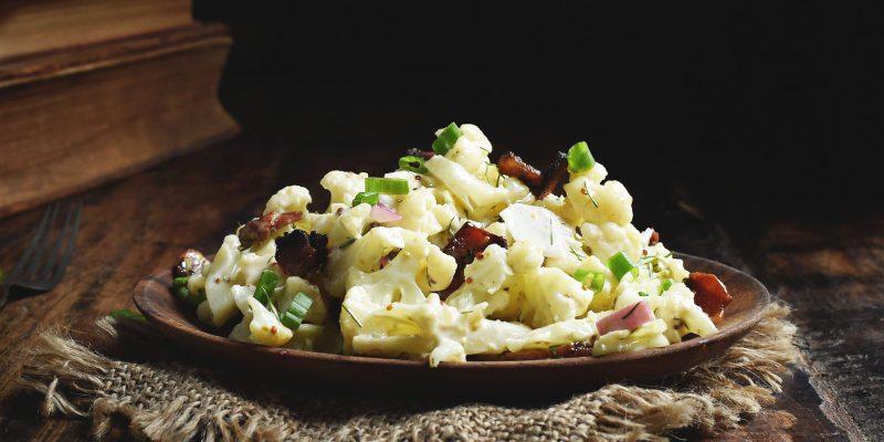 Low-Carb Bacon Cauliflower Salad