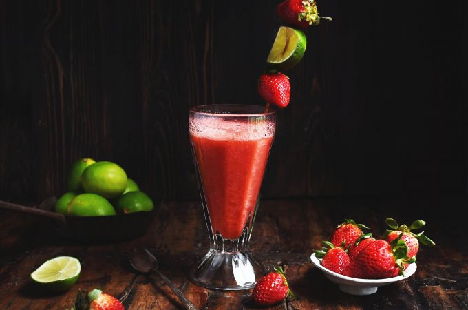 Low-Carb Strawberry Lime Cooler