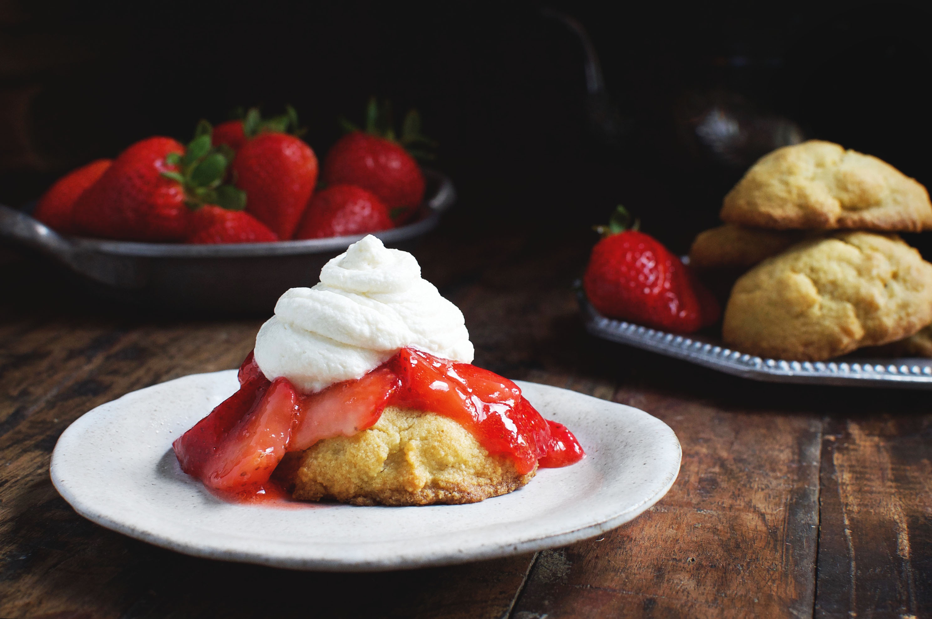 Low-Carb Strawberry Lemon Shortcake