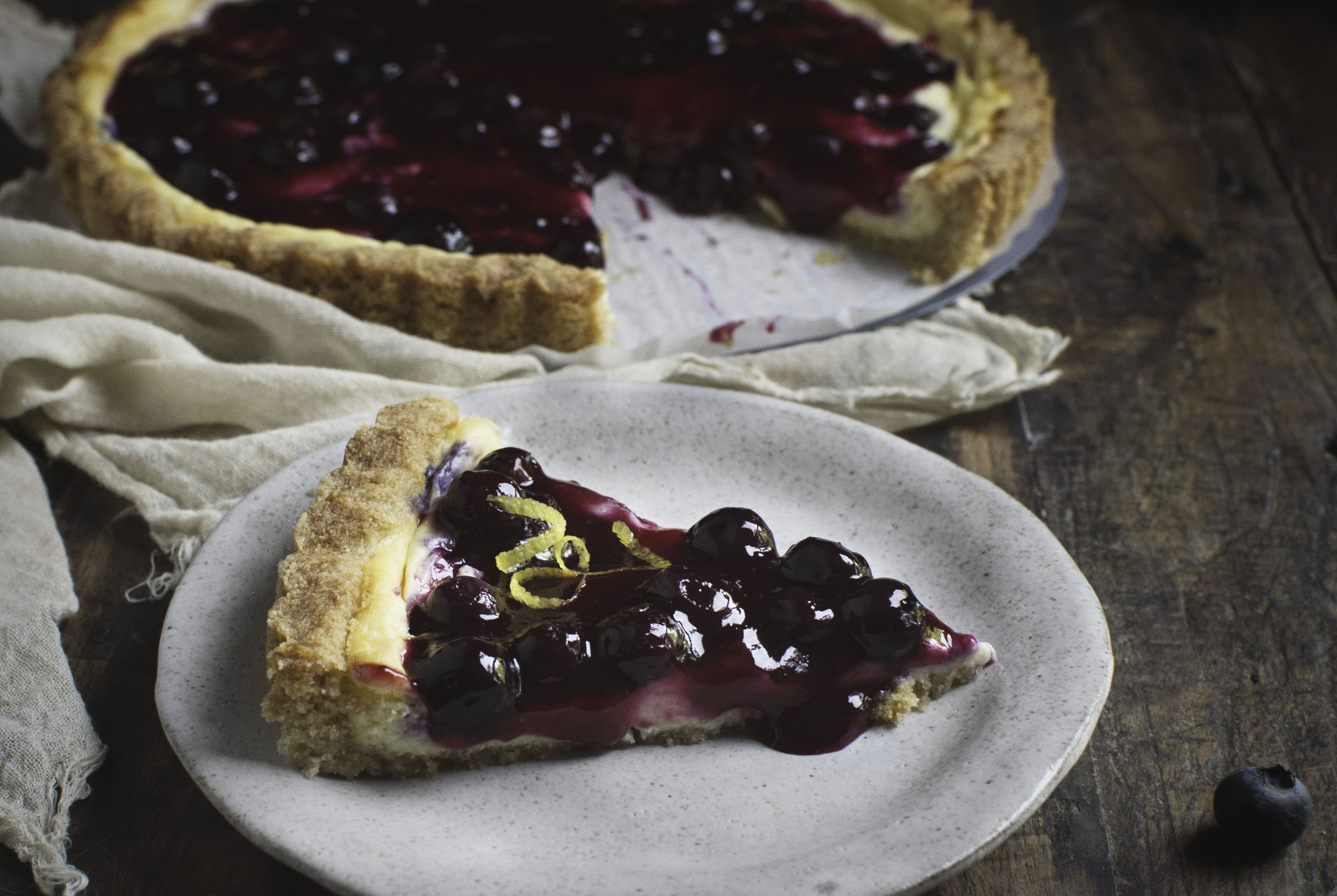Low-Carb Blueberry Lemon Cream Tart