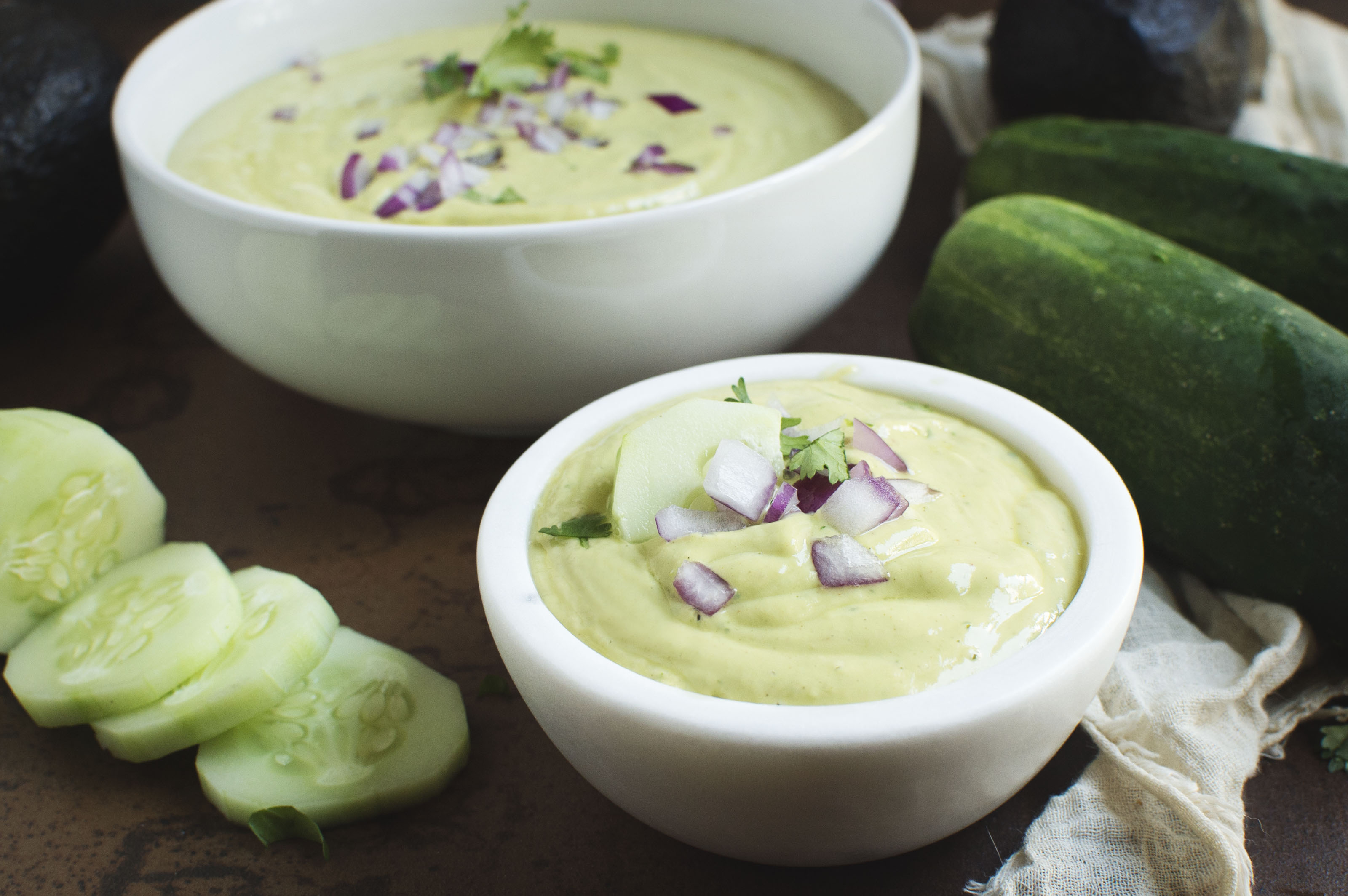 Chilled Avocado Soup- simplysohealthy.com