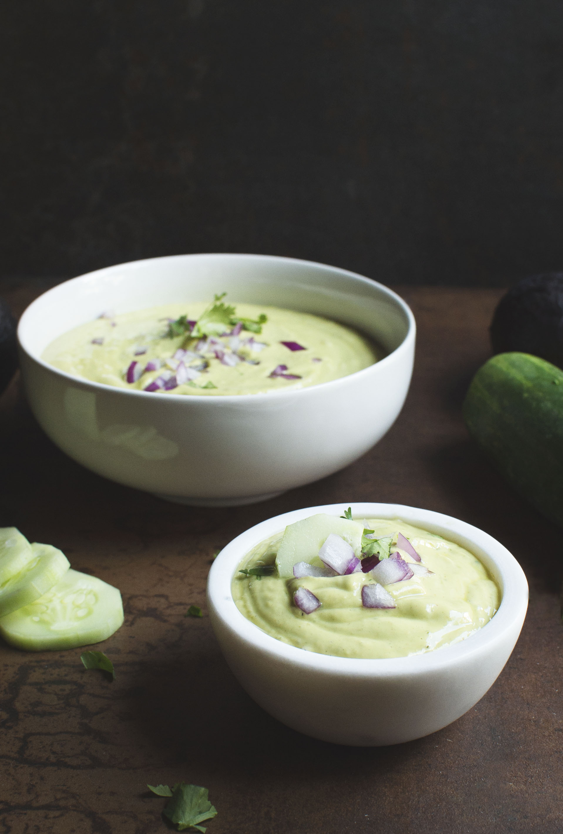 Chilled Avocado Cucumber Soup- simplysohealthy.com