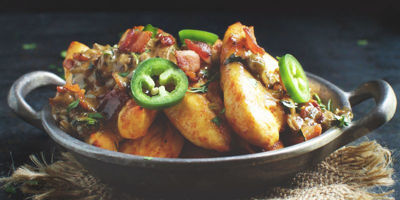 Chicken Tenders with Bacon Jalapeño Sauce