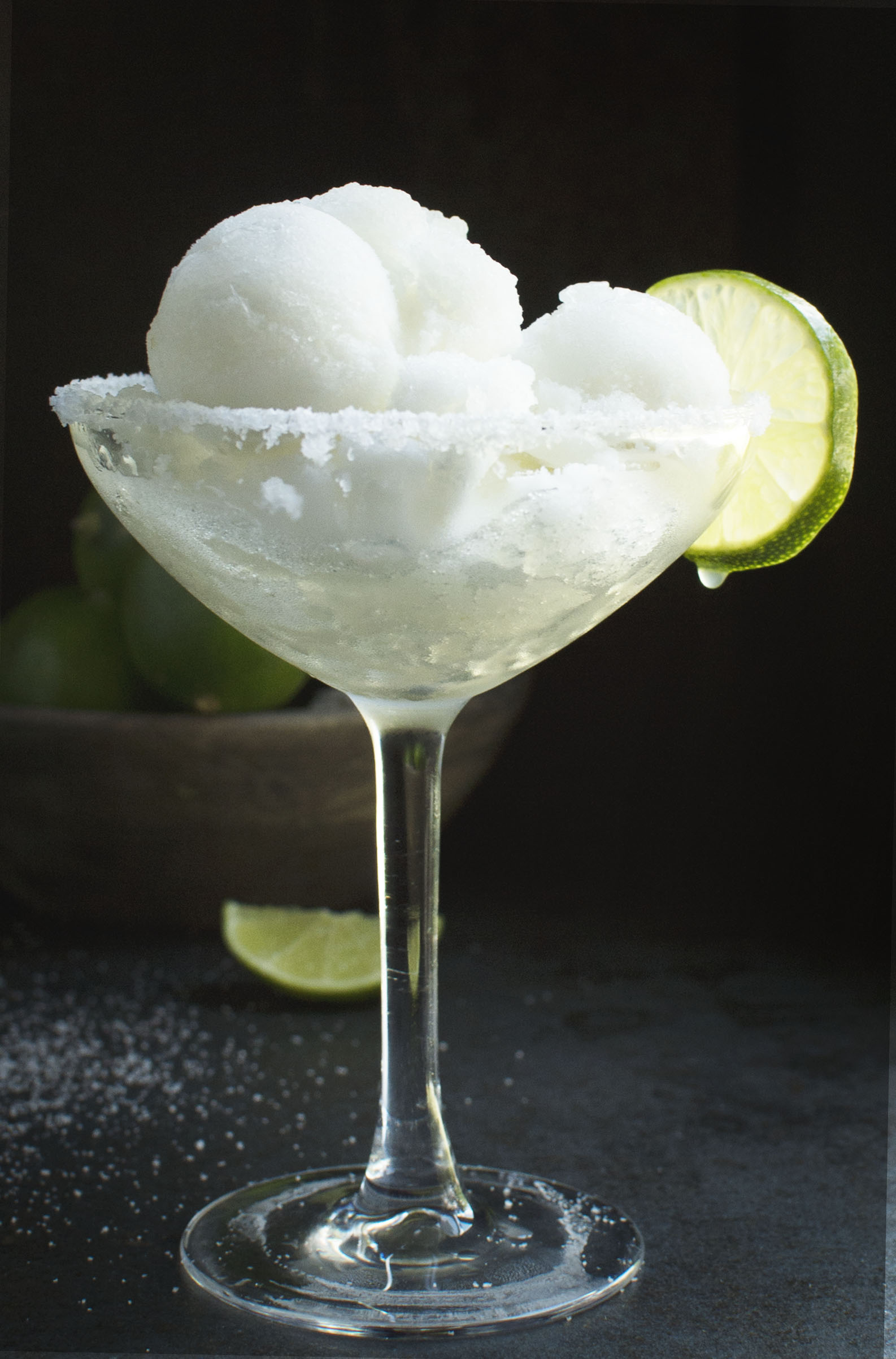 Low-Carb Margarita Sorbet