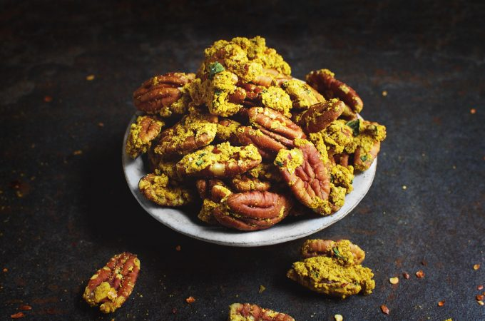 Curry Crusted Pecans