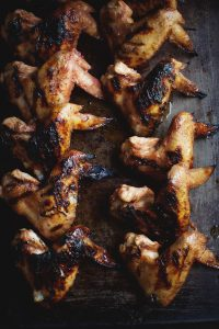 Strawberry Rhubarb Barbecue Chicken Wings