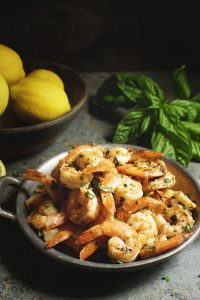 Easy Garlic Basil Shrimp