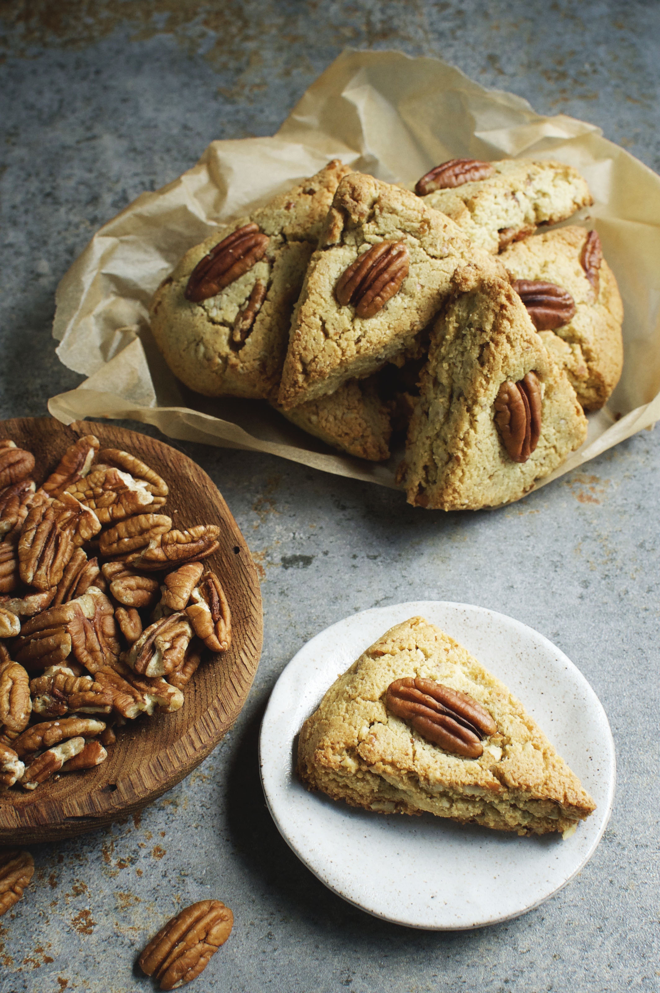 Low-Carb Maple Pecan Scones