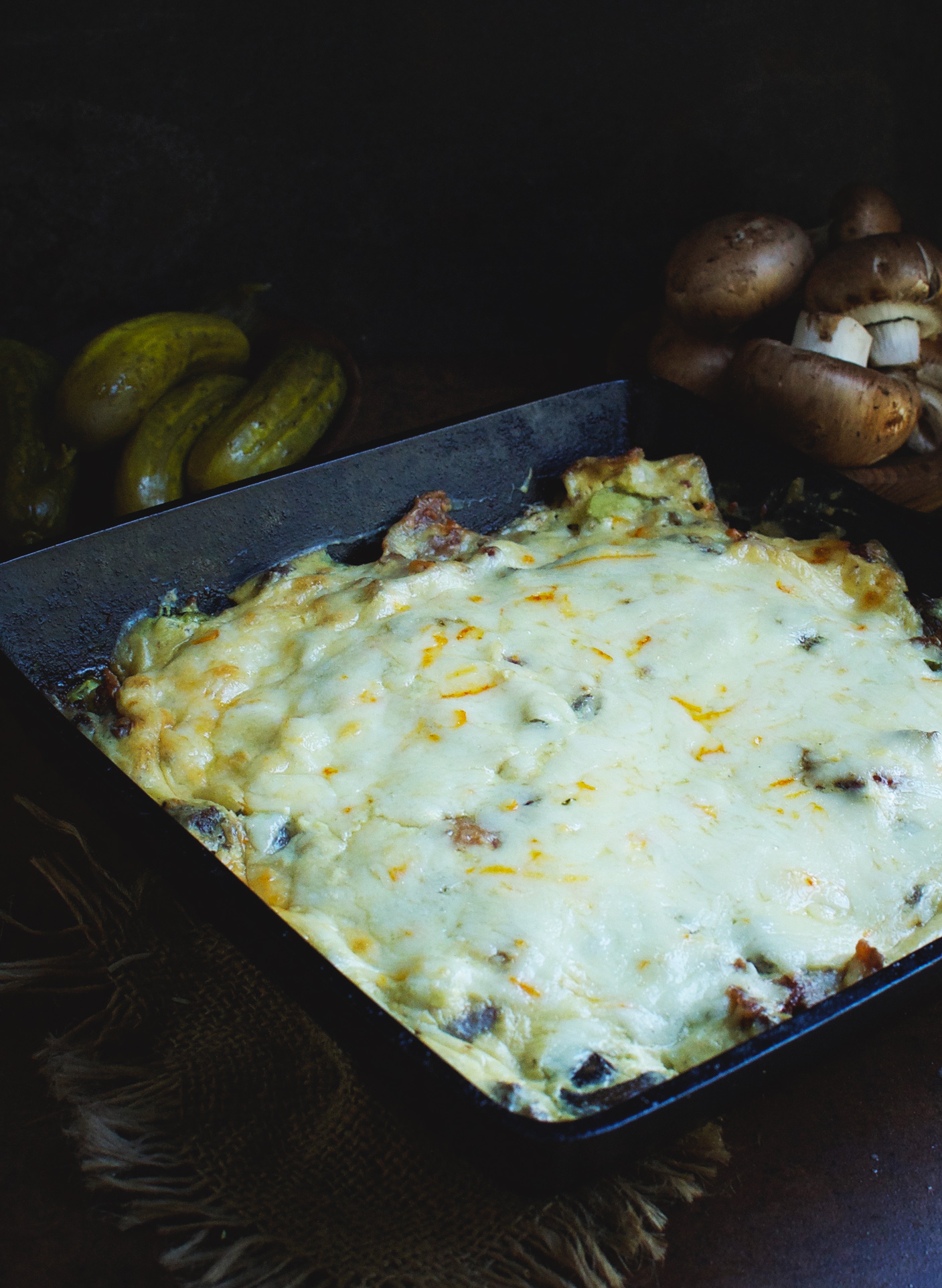 Casserole fresh out of the oven