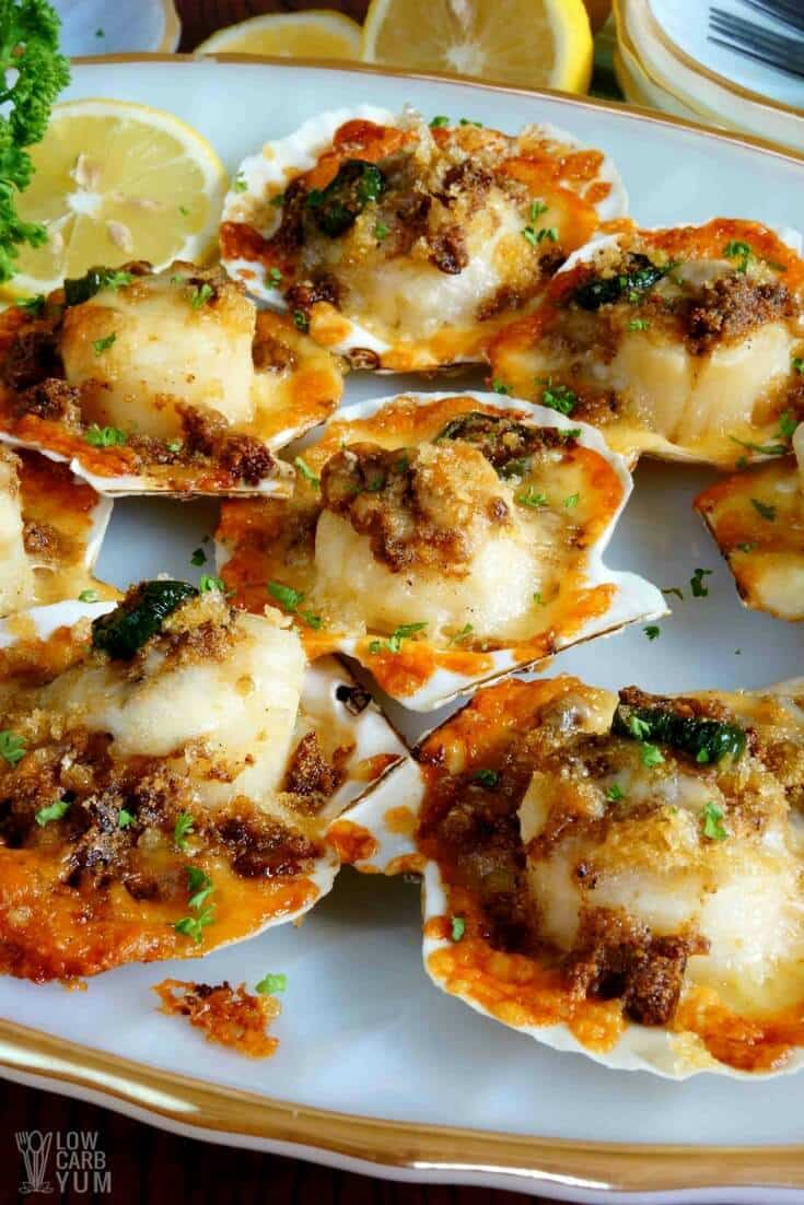 Baked Sea Scallops from Low-Carb Yum