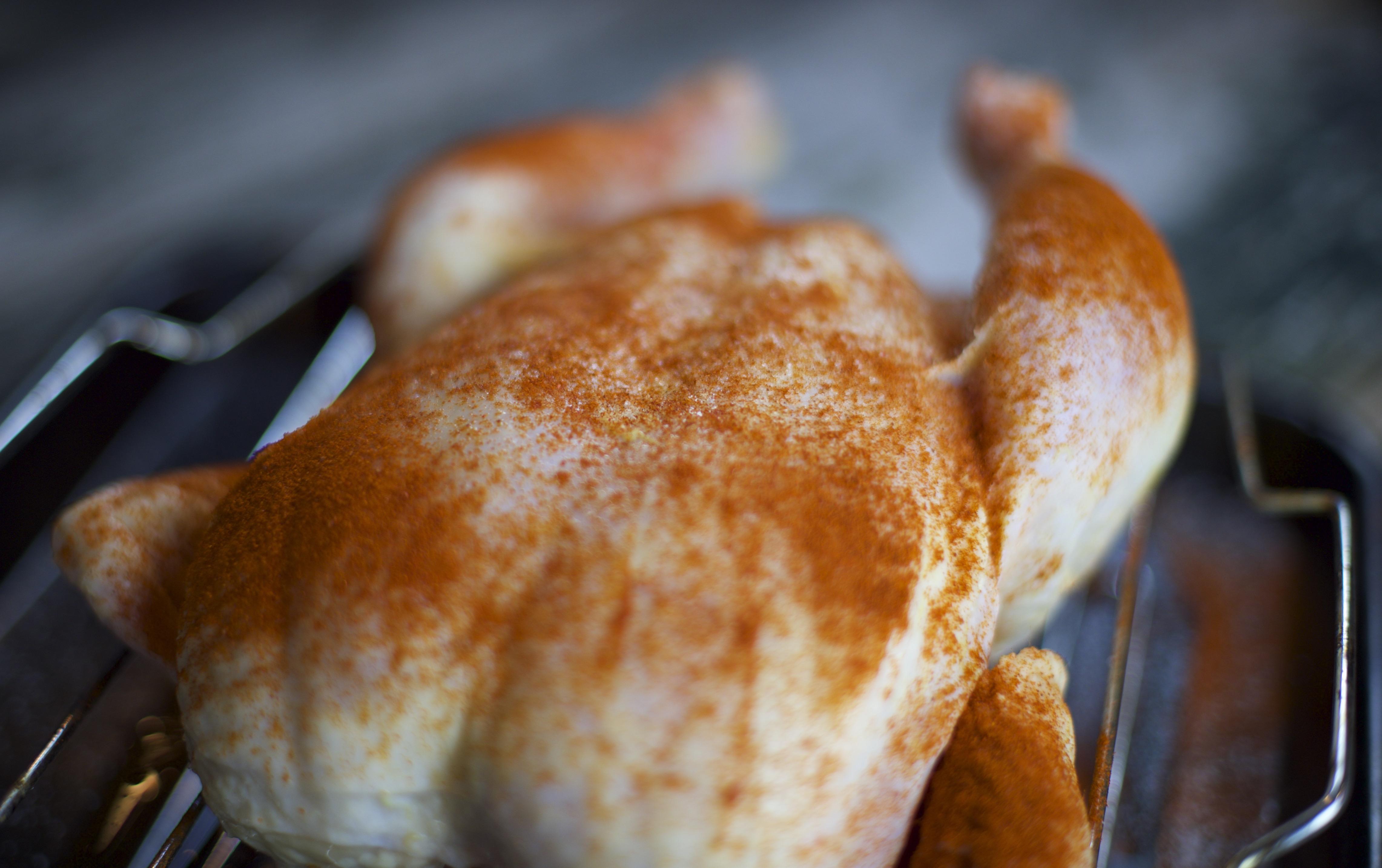Up close photo of raw chicken