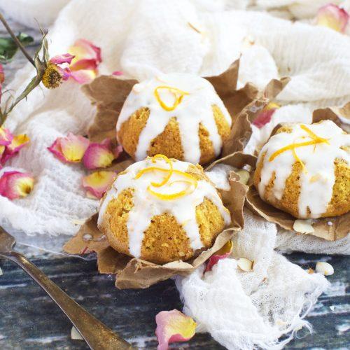 Low-Carb Orange Cardamom Tea Cakes