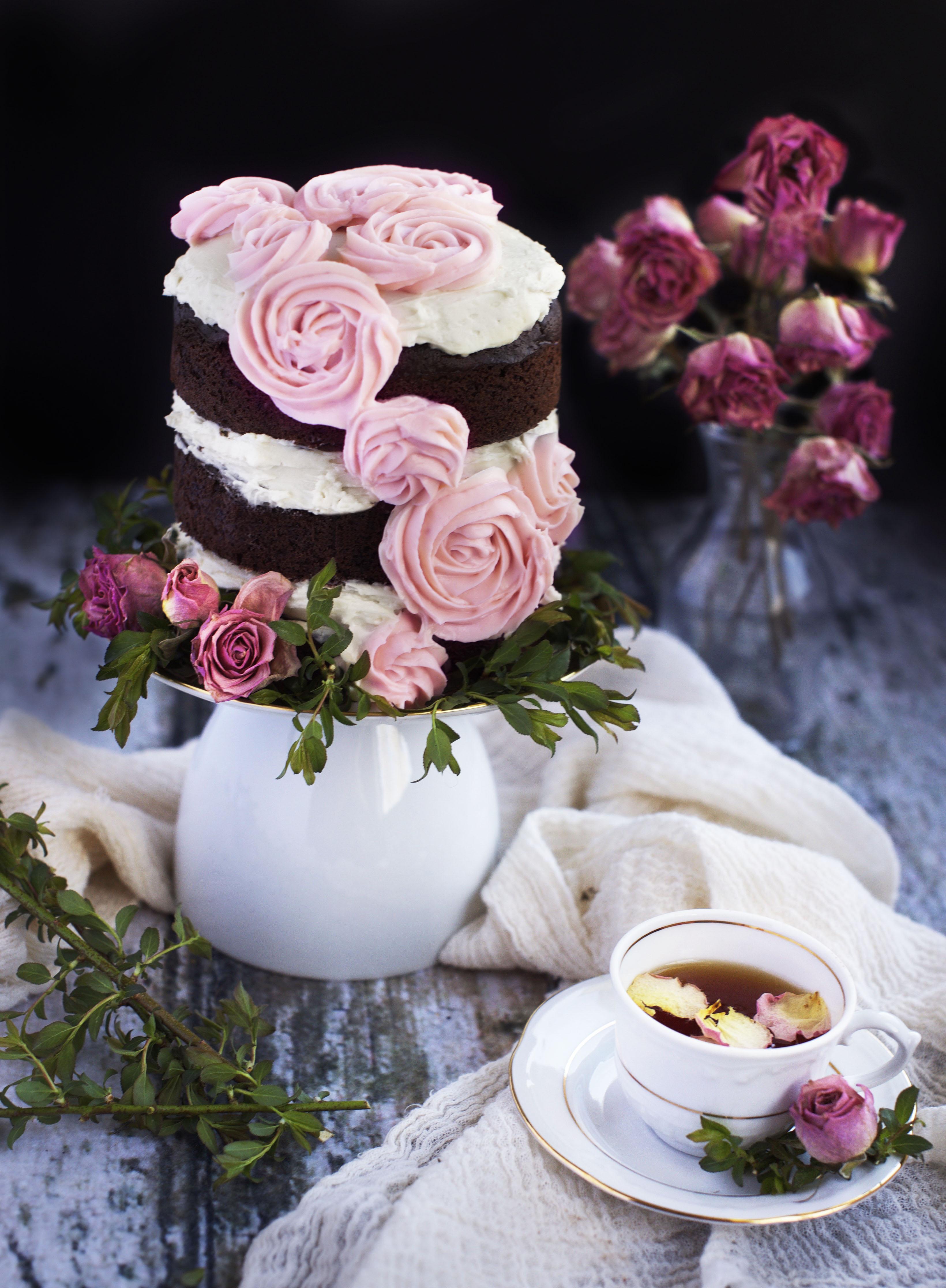 Low-Carb Dark Chocolate Layer Cake