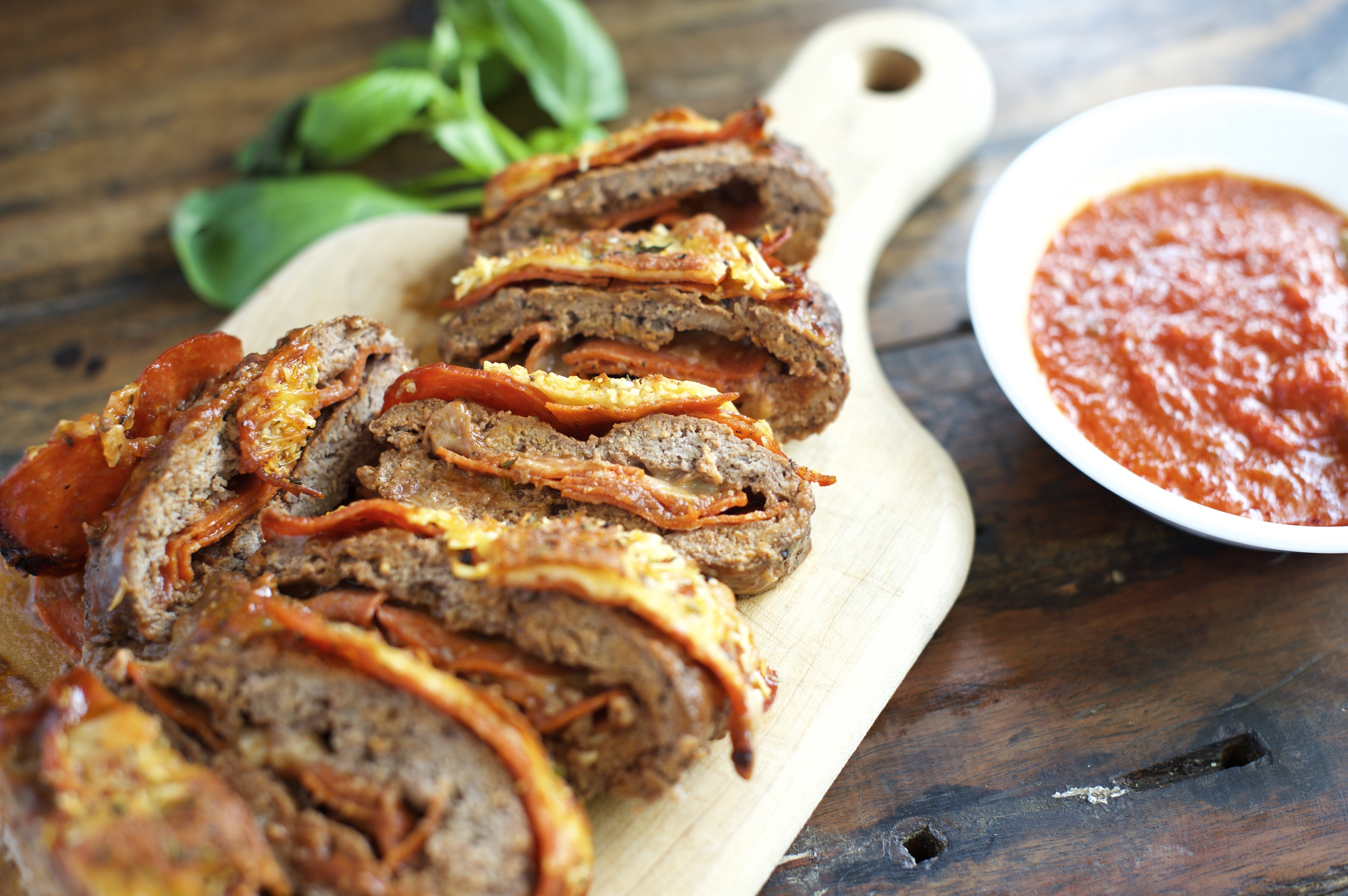 Pizza Stuffed Meatloaf