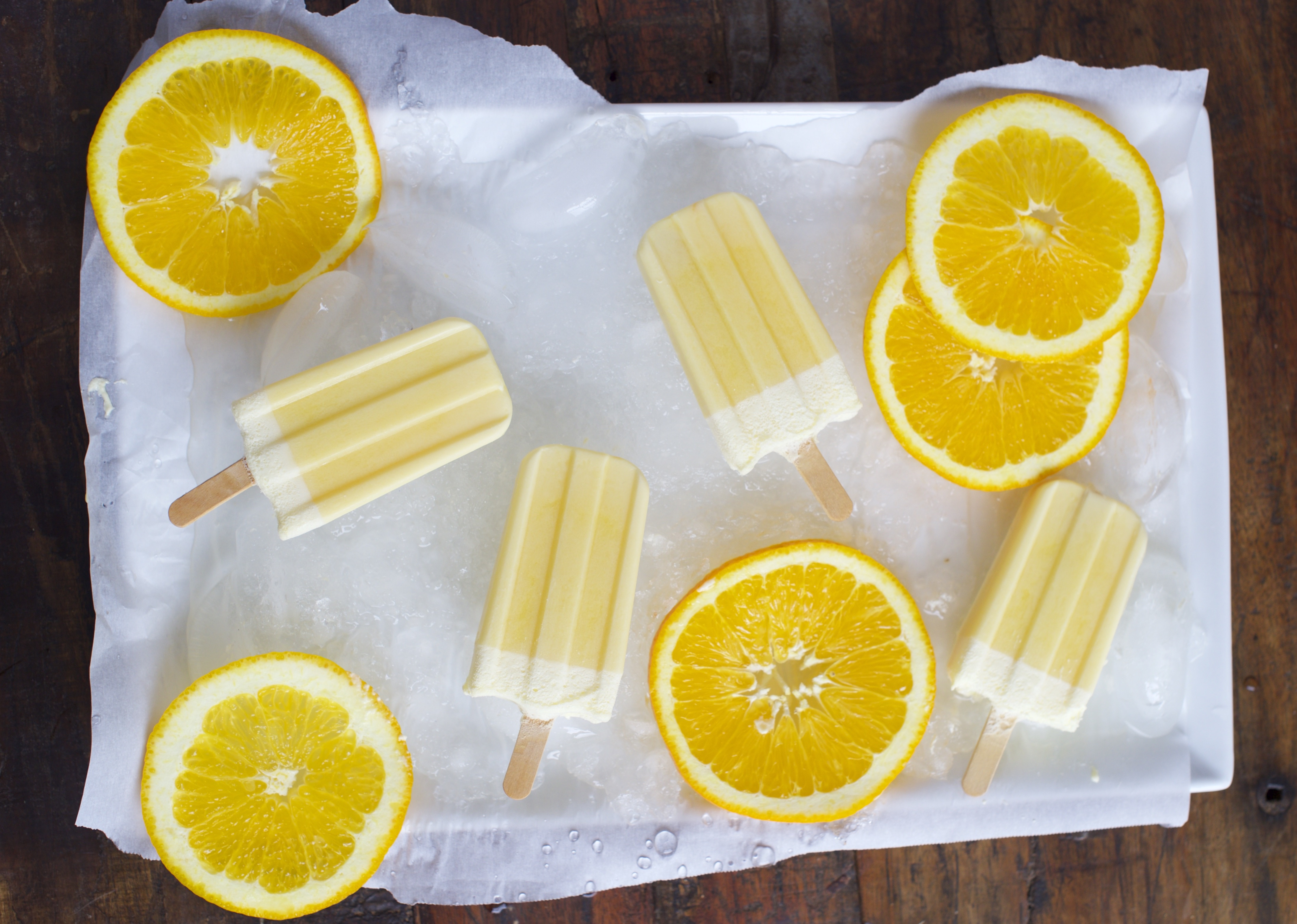 Low Carb Orange Creamsicles