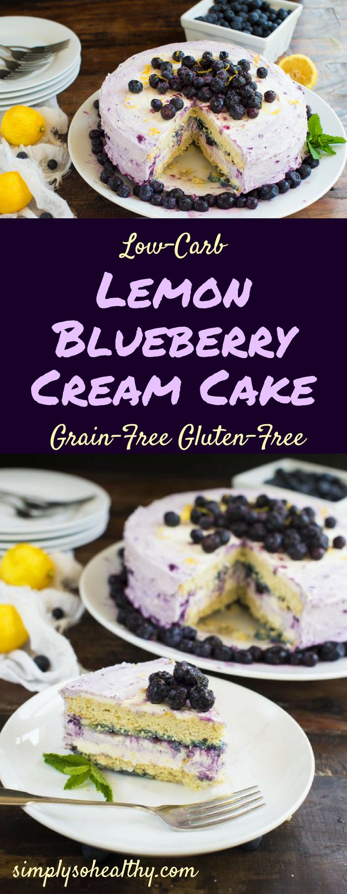LemonBlueberryCream Cake