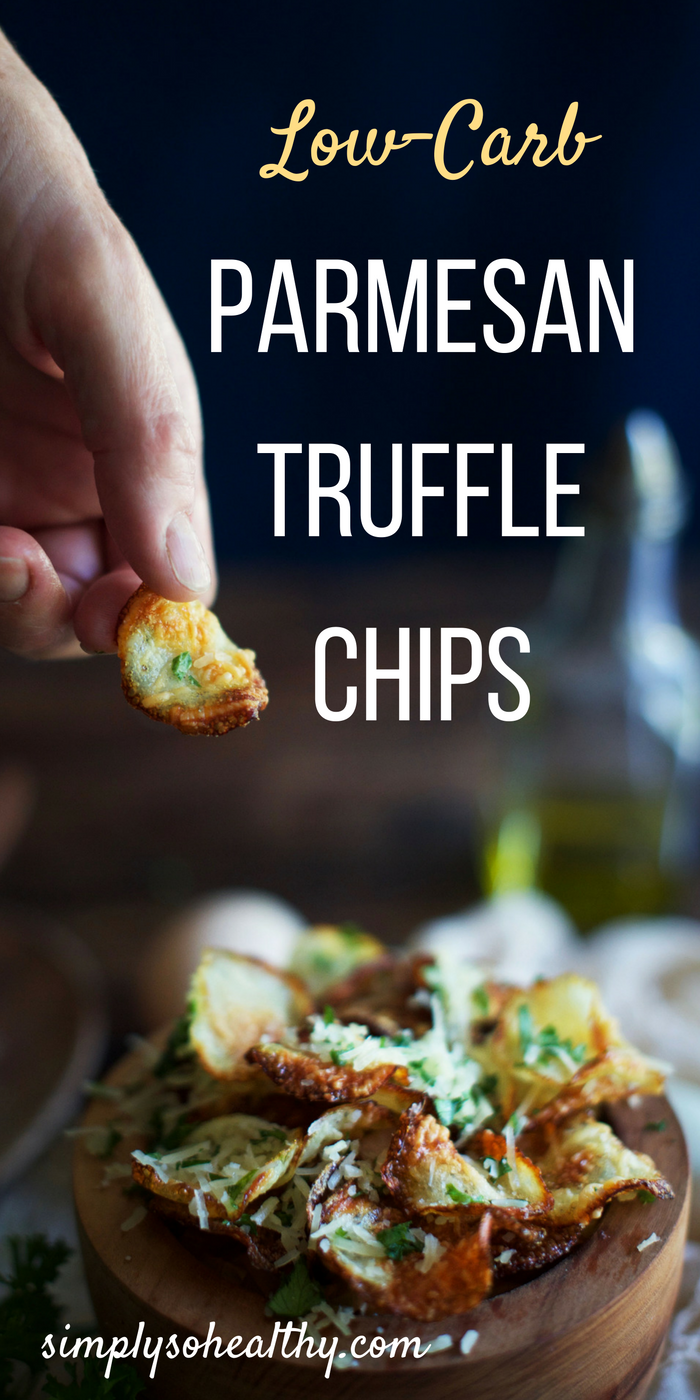 Low Carb Parmesan Truffle Chips