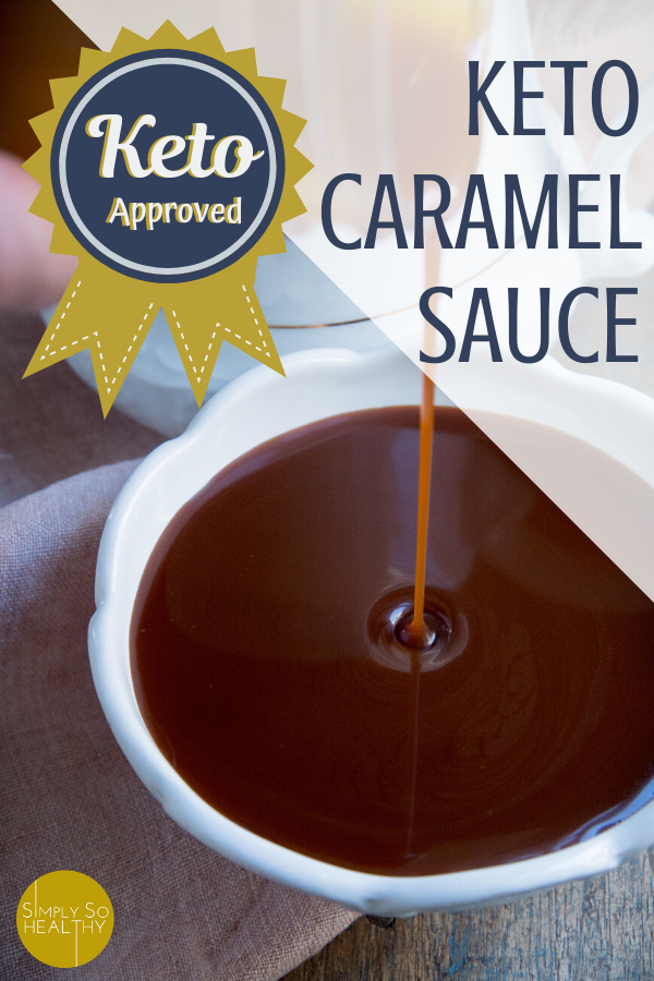 This recipe for Keto Caramel Sauce tastes just like the real thing. Perfect for people on low-carb, keto, Atkins, and sugar-free diets. #ketocaramel #ketocaramelsauce #ketoicecreamtopping