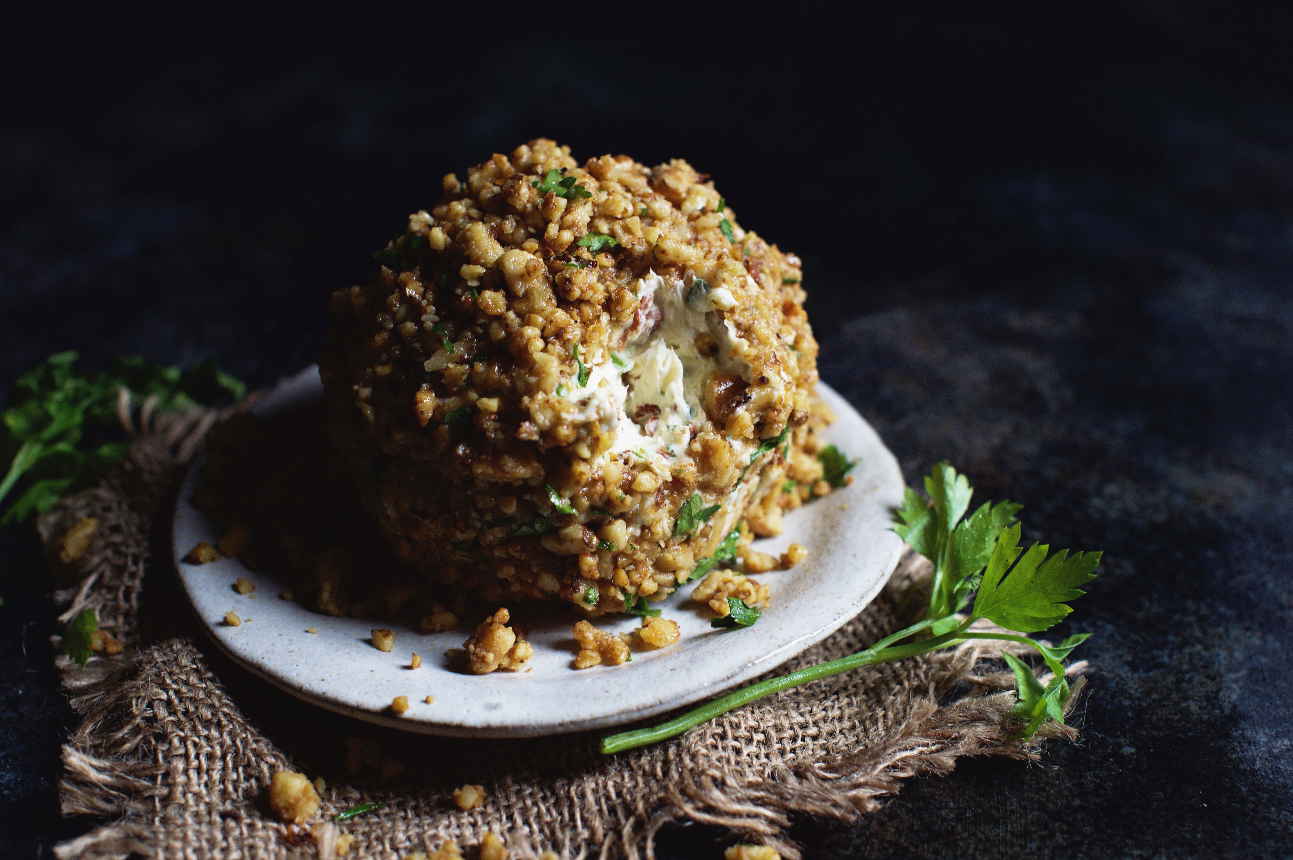 Blue Cheese, Bacon, and Scallion Cheese Ball