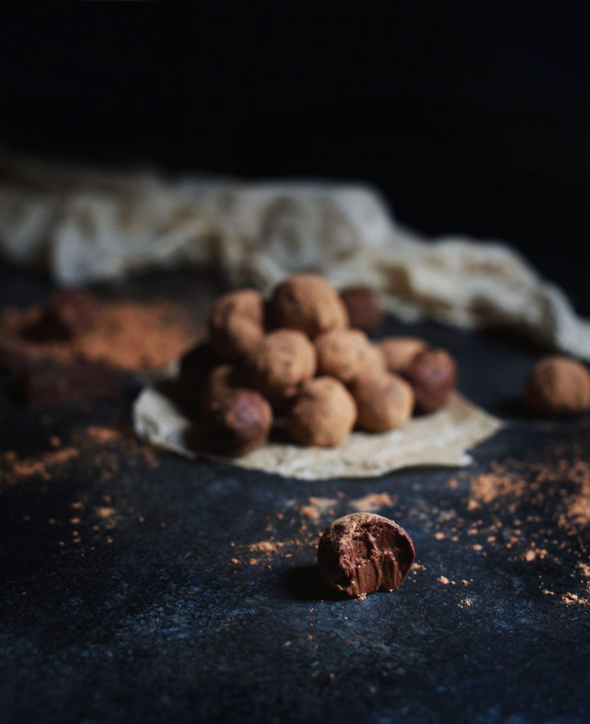 Low-Carb Dark Chocolate Lemon Truffles
