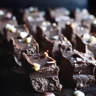 Close up photo of Keto Chocolate Fudge.
