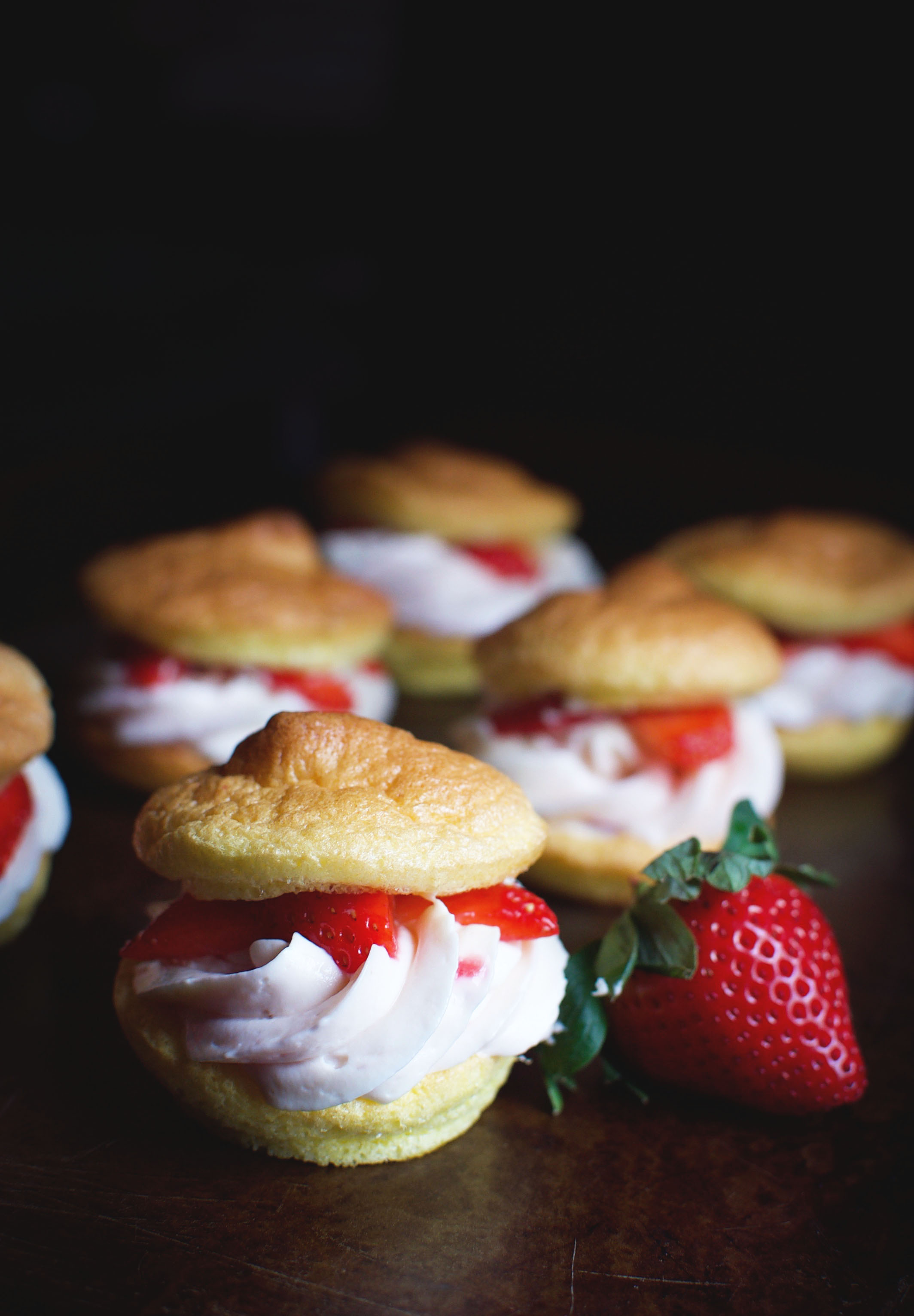 Low-Carb Strawberry Cream Puffs