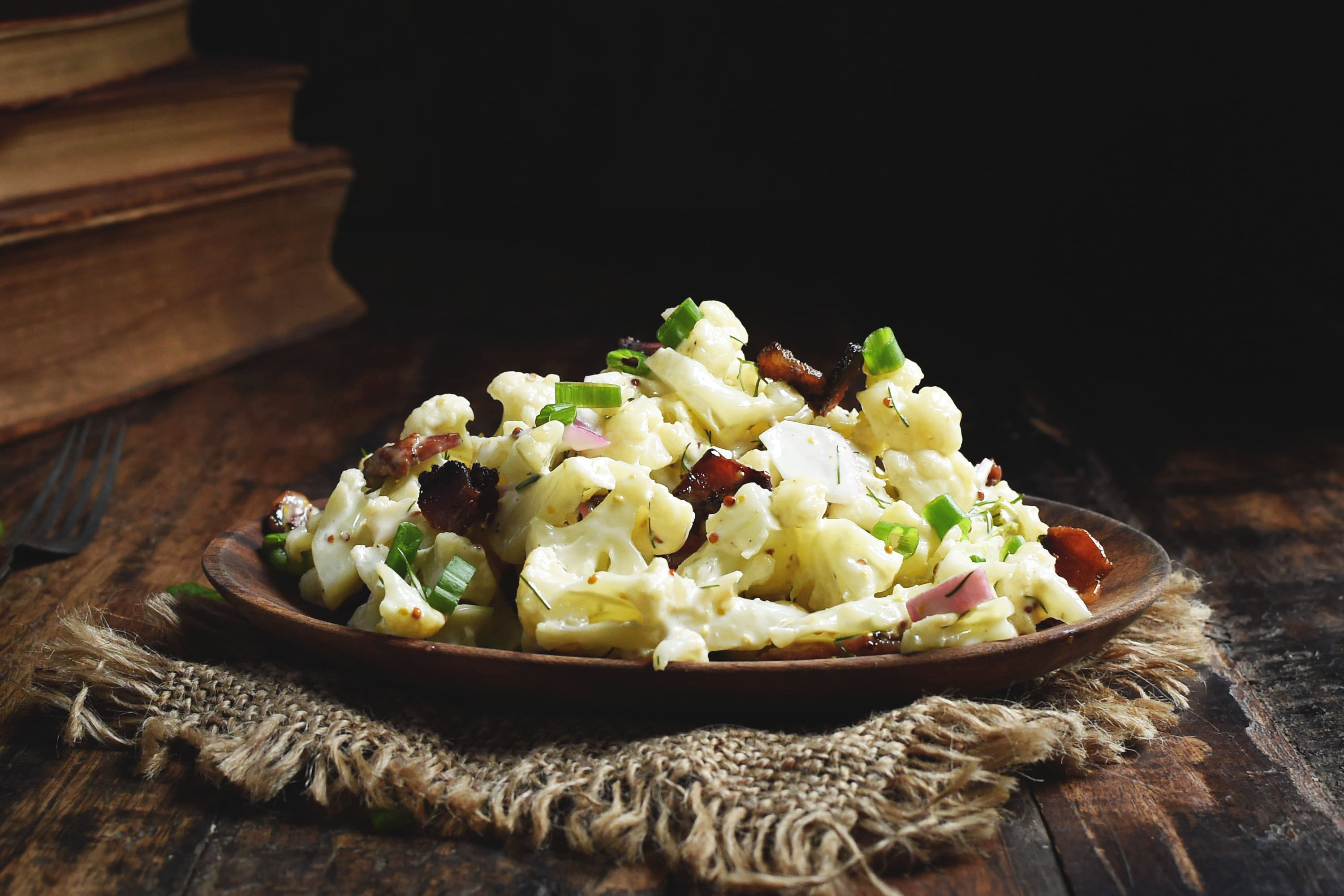 Low-Carb Bacon Cauliflower Salad