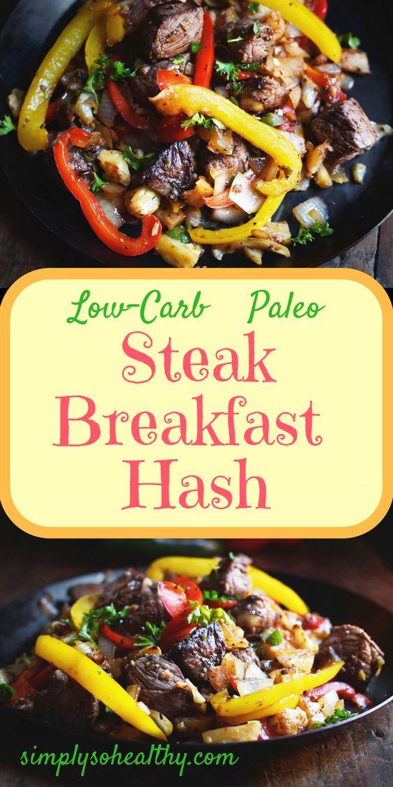 Low-Carb Steak Breakfast Hash Recipe - Simply So Healthy