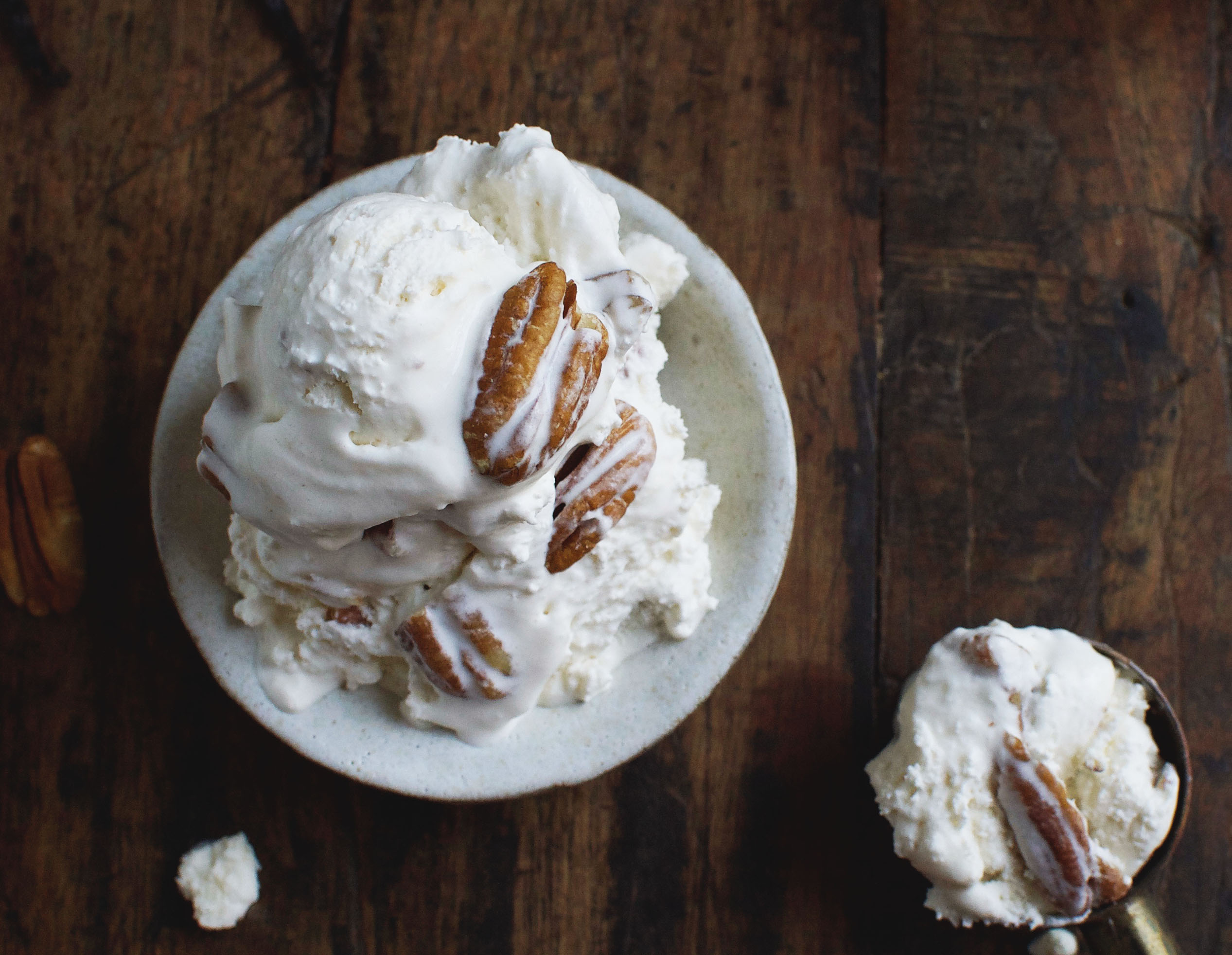 Low-Carb Butter Pecan Ice-Cream