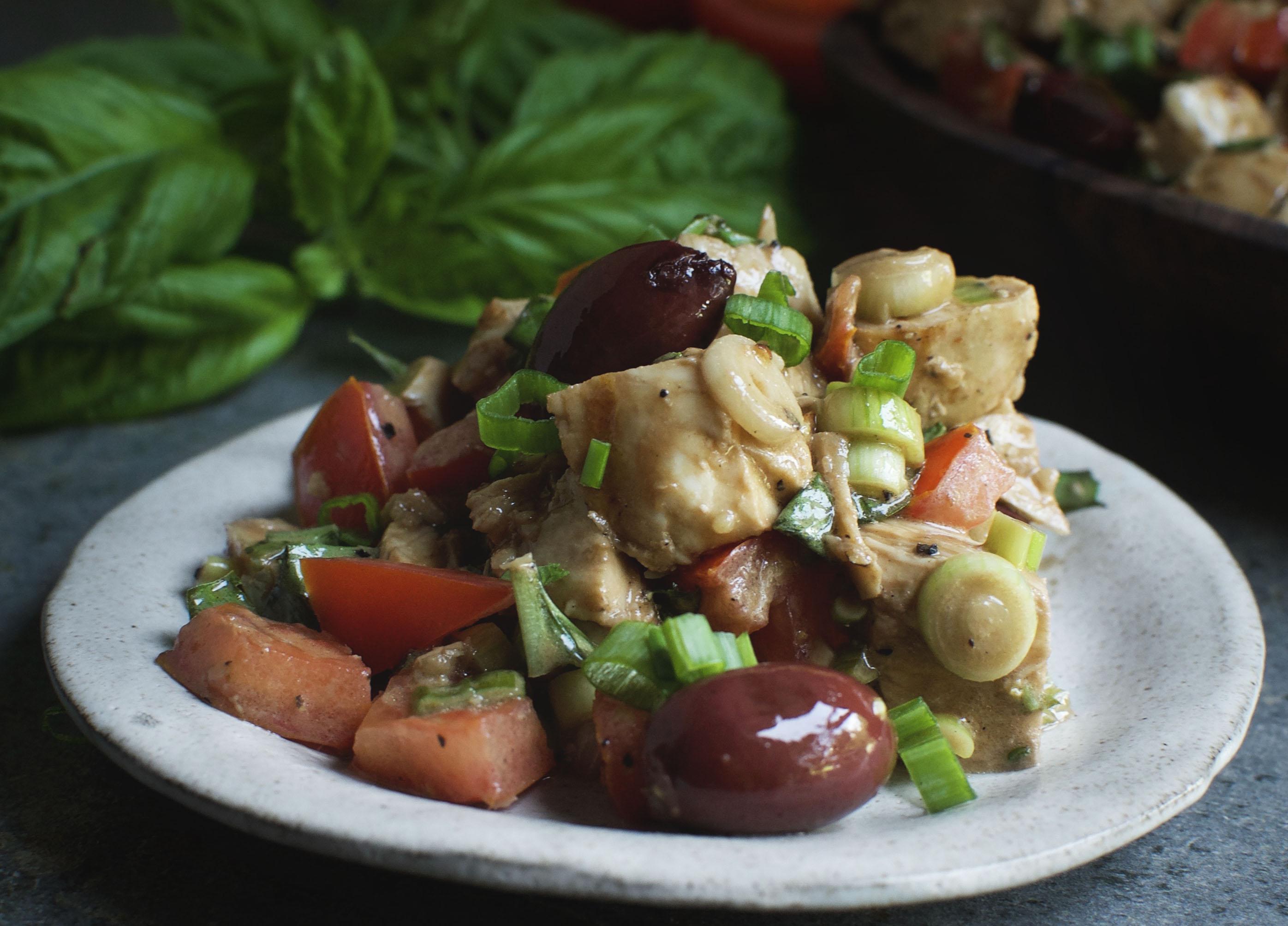 Basil Balsamic Chicken Salad
