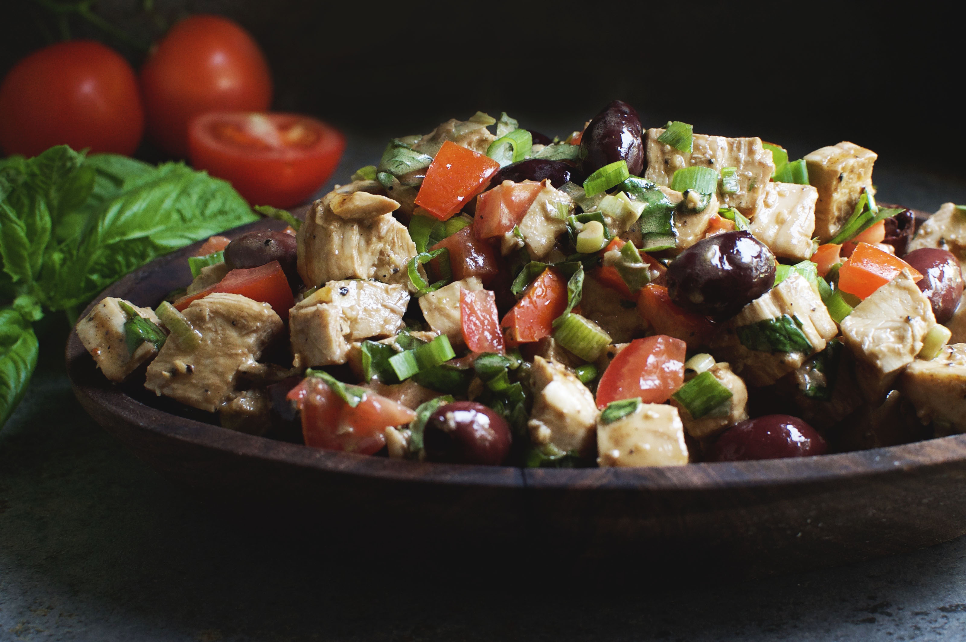 Basil Balsamic Chicken Salad