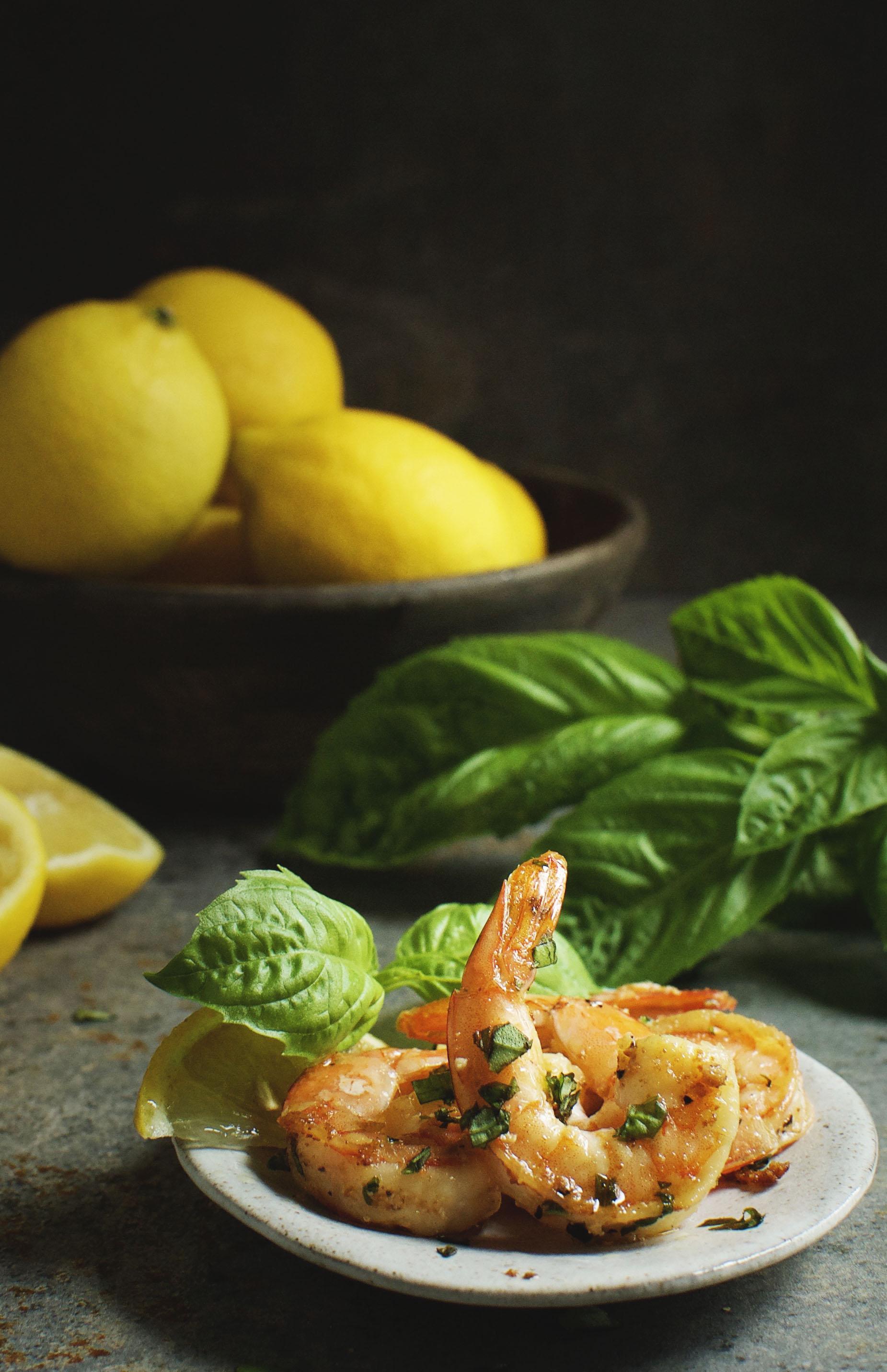 Easy Garlic Basil Shrimp