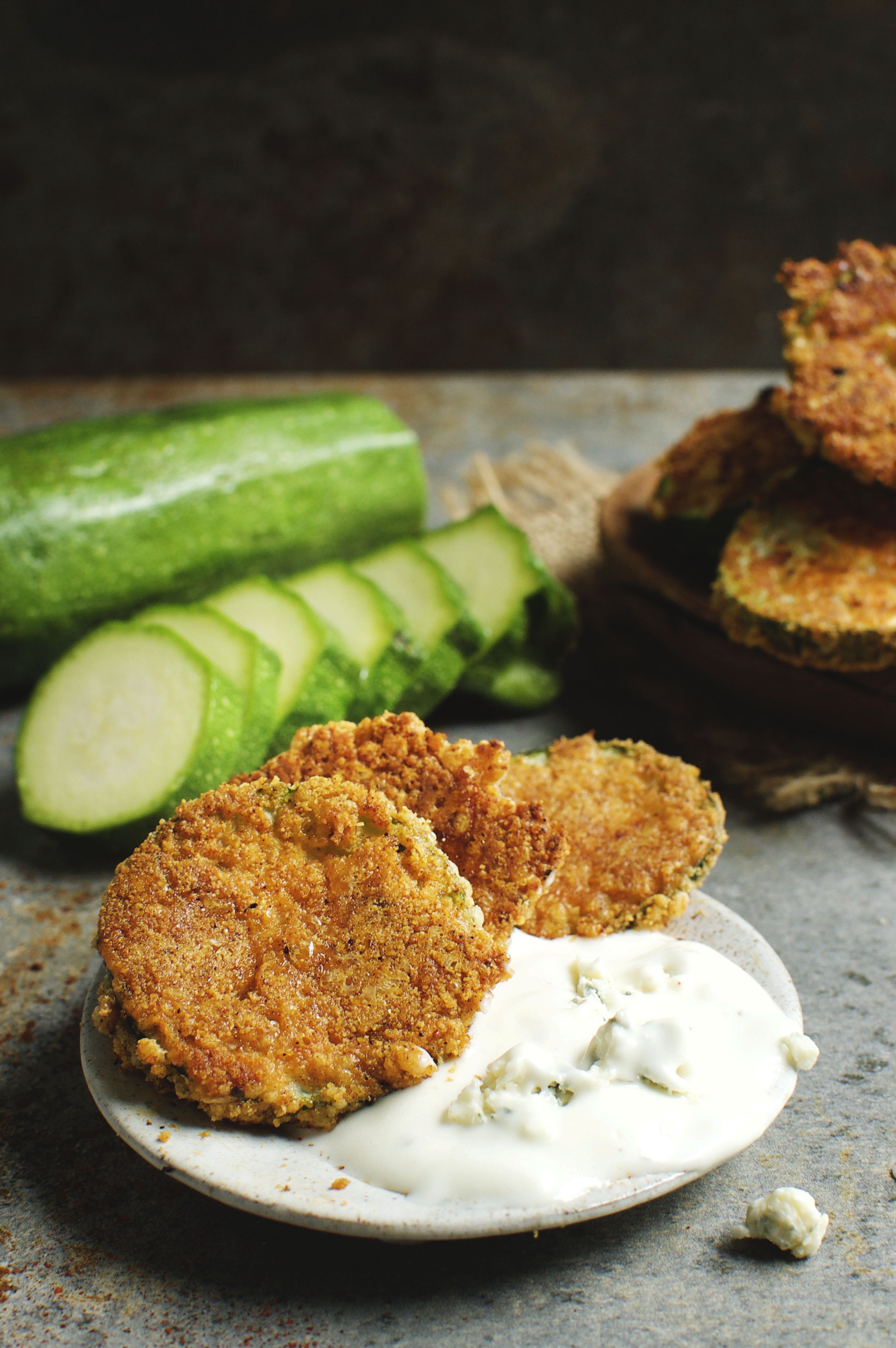 Low-Carb Buffalo Baked Zucchini Chips