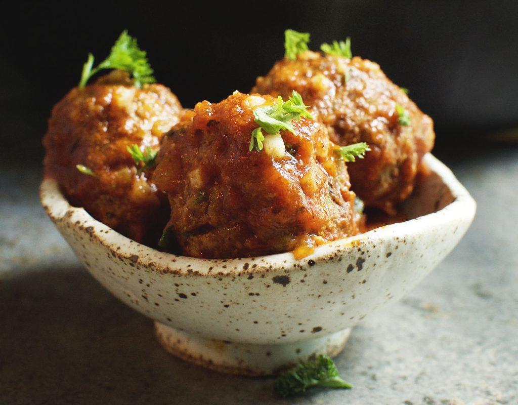 Low-Carb Porcupine Meatballs