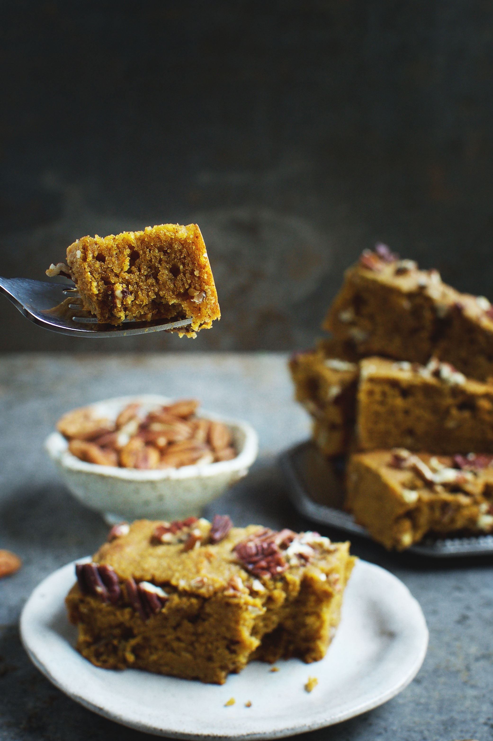These Low-Carb Pumpkin Pecan Bars make a delicious fall dessert or snack. This bar cookie recipe can work for those who follow low-carb, ketogenic, Atkins, gluten-free, grain-free, diabetic, or Banting diets.