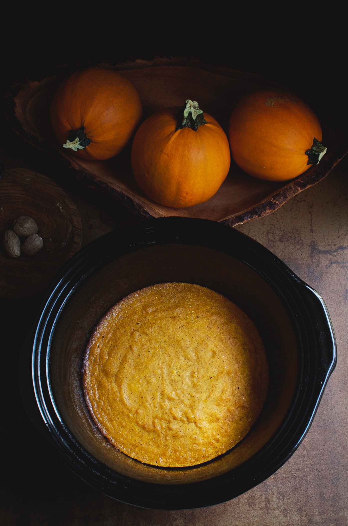 This Low-Carb Slow-Cooker Pumpkin Custard is like pumpkin pie without the crust. It makes a delicious dessert that can work for low-carb, keto, lc/hf, diabetic, gluten-free, grain-free, Paleo, or Banting diets