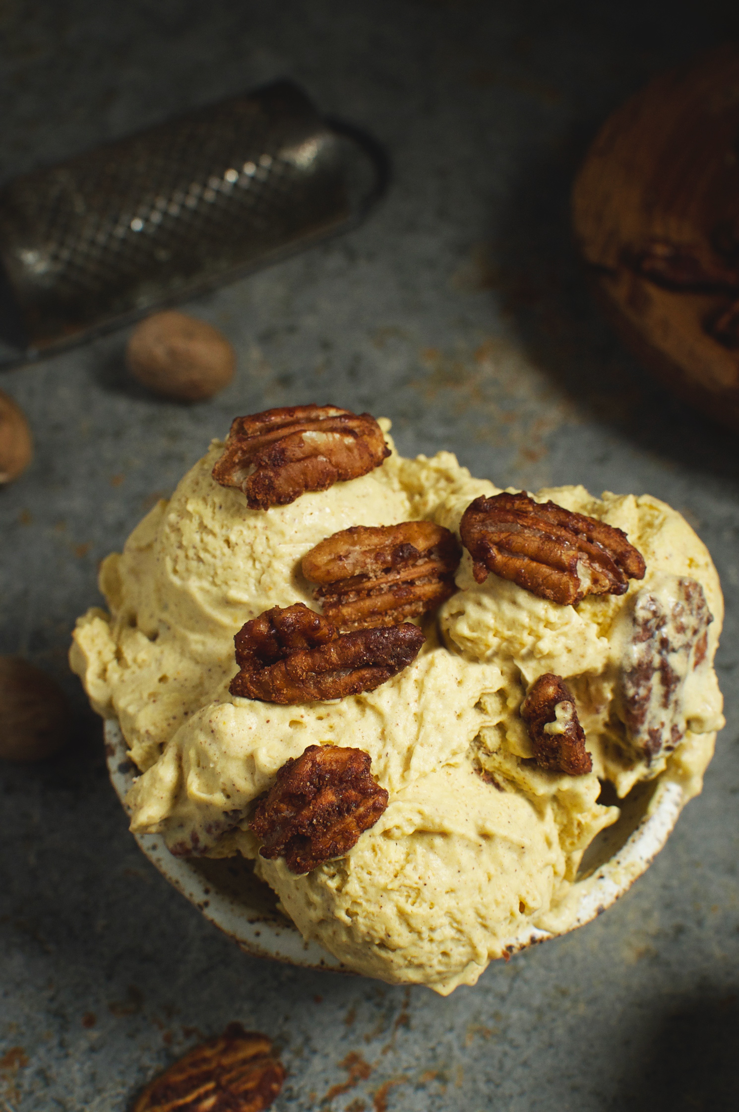 Low-Carb Candied Pecan Pumpkin Ice