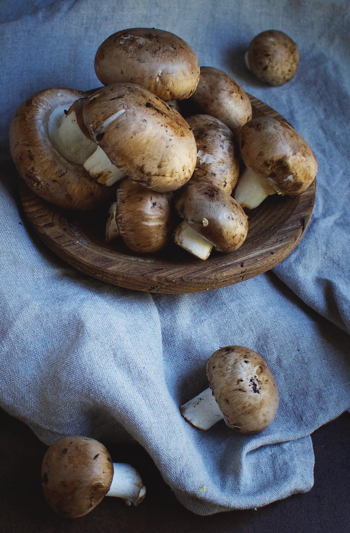 shot of mushrooms